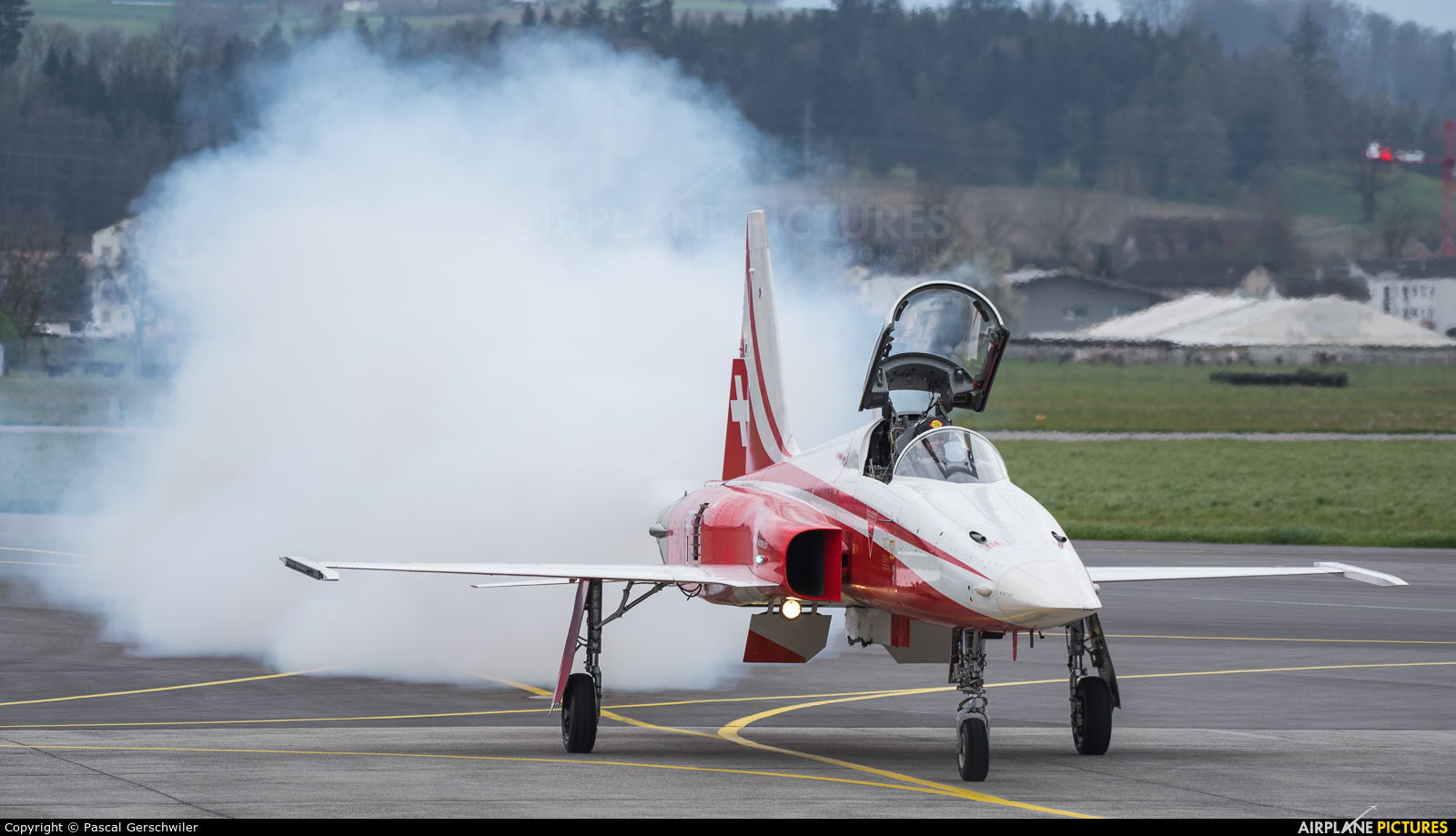 Switzerland - Air Force: Patrouille Suisse J-3085 aircraft at Emmen
