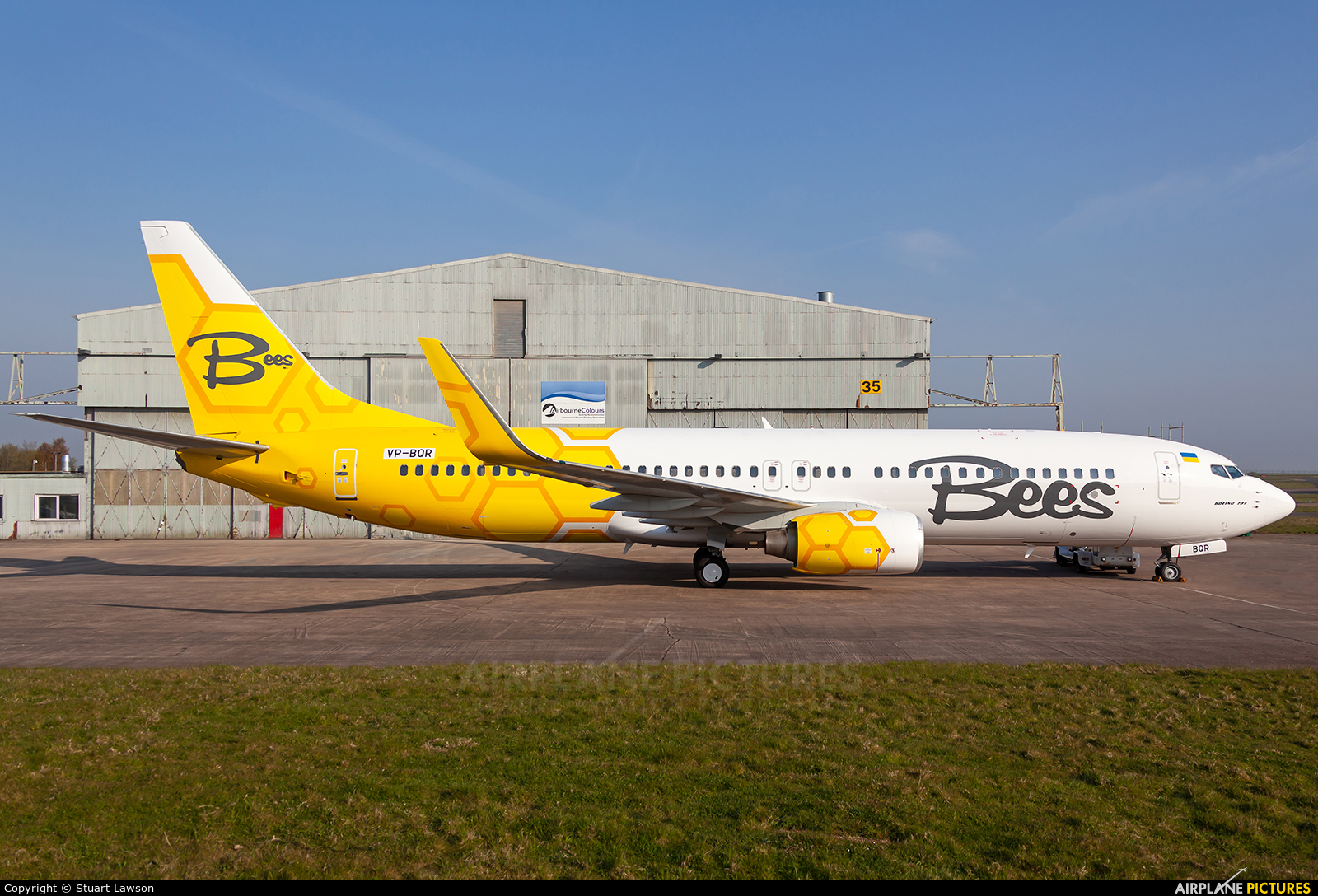 Bees Airline VP-BQR aircraft at East Midlands