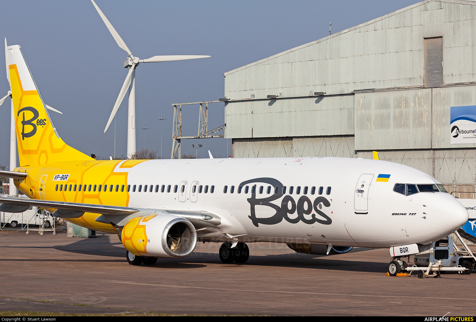 Bees Airline UR-UBC aircraft at East Midlands