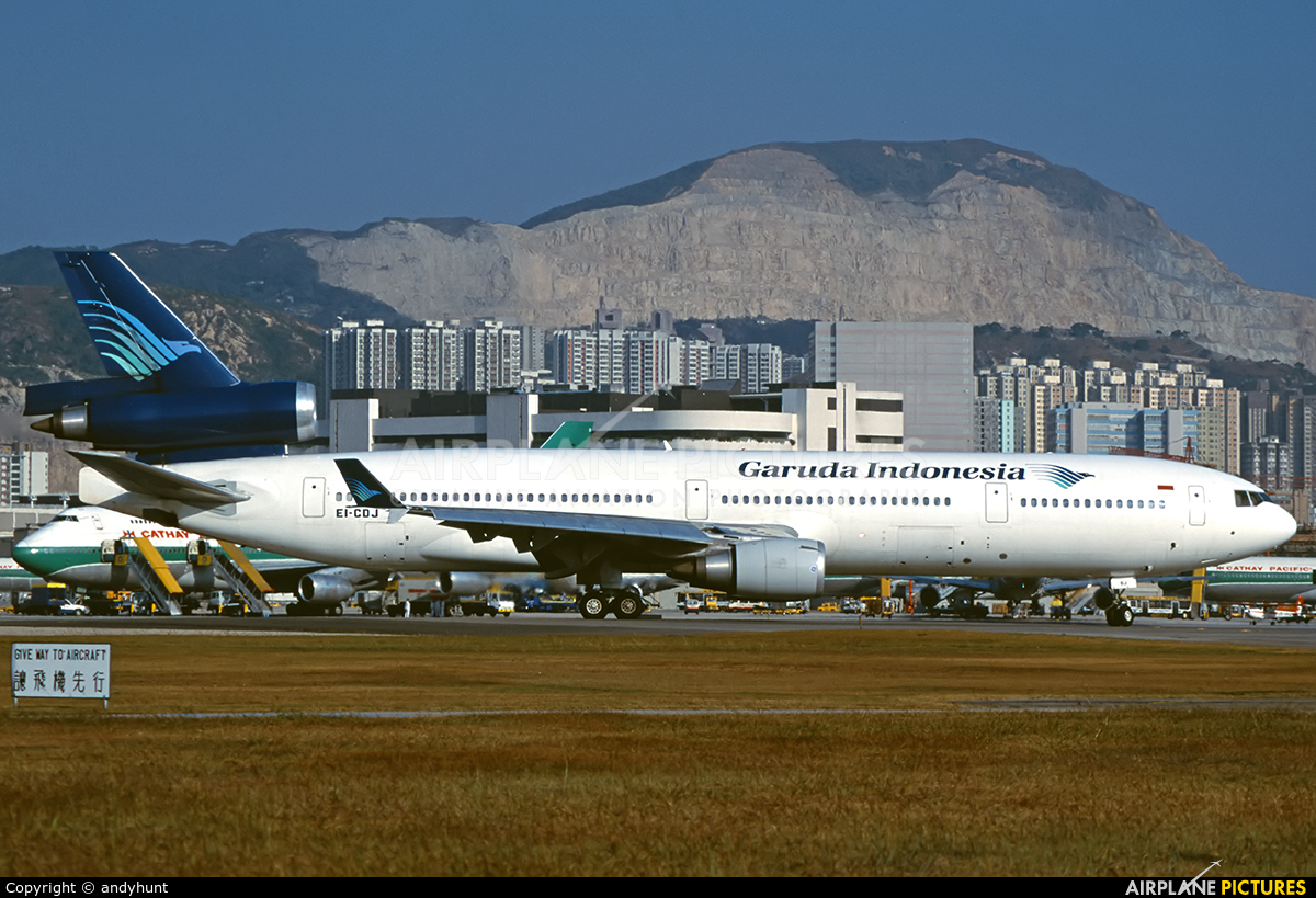 Garuda Indonesia EI-CDJ aircraft at HKG - Kai Tak Intl CLOSED