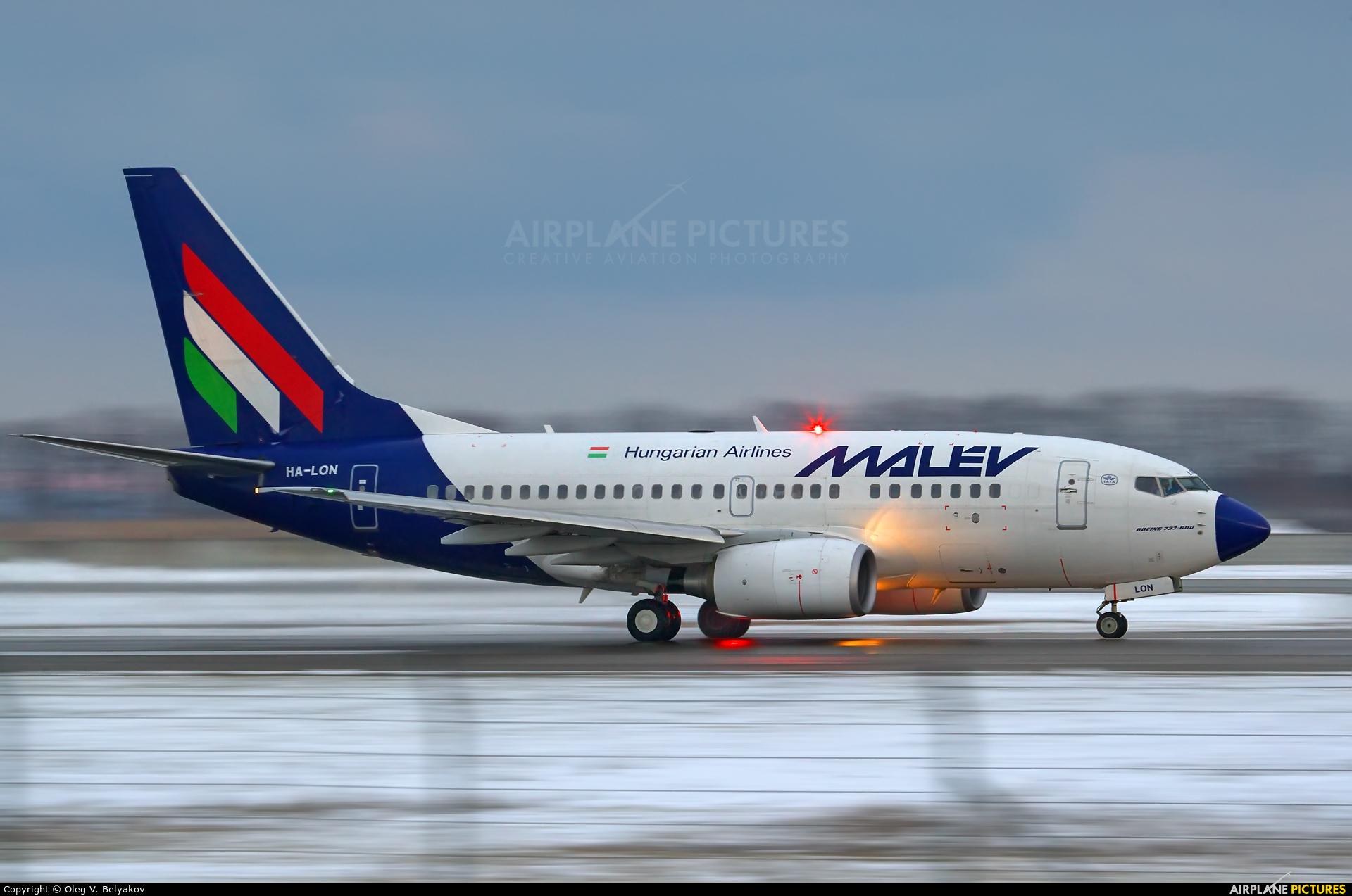 Malev HA-LON aircraft at Kyiv - Borispol