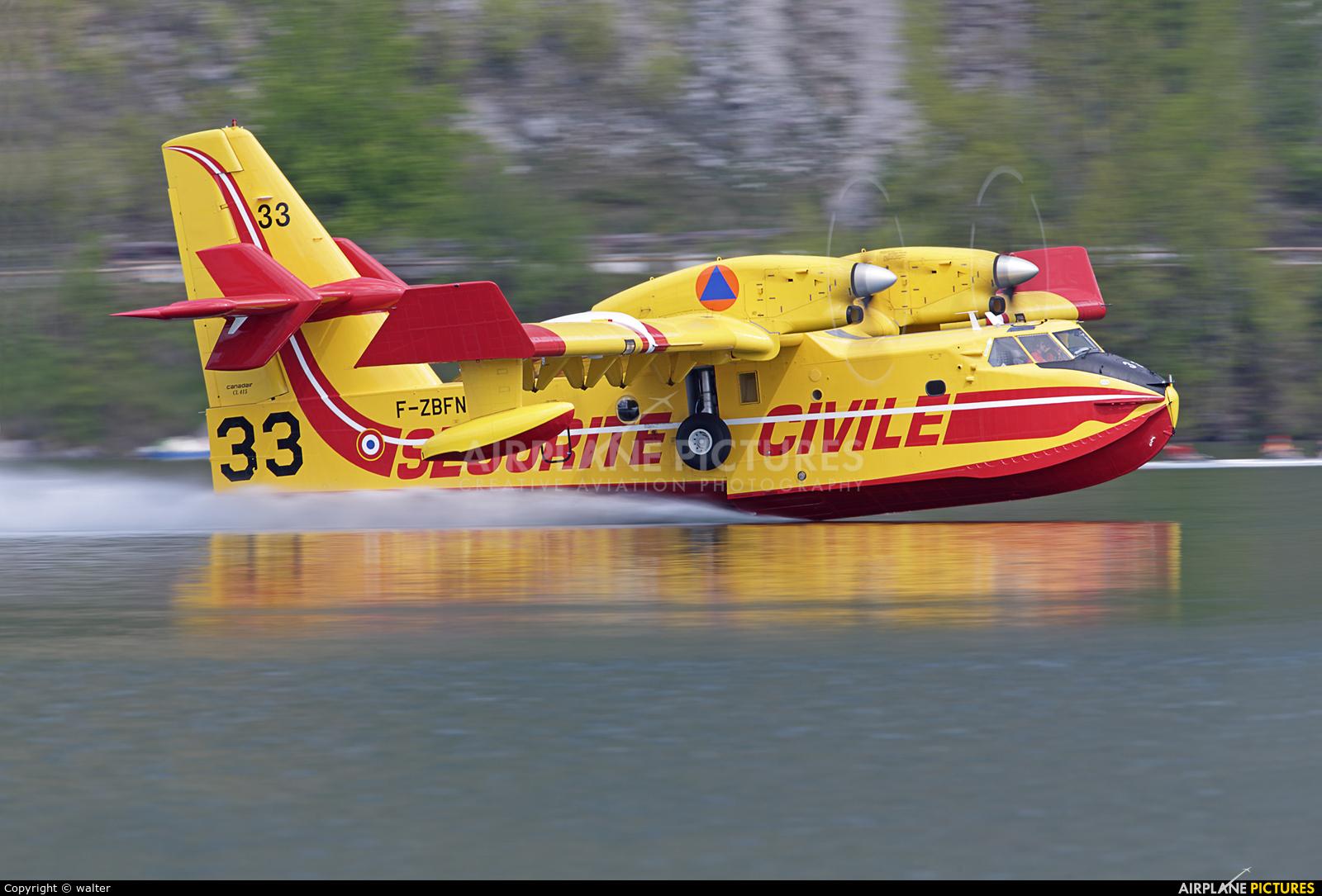 France - Sécurité Civile F-ZBFN aircraft at Off Airport - France