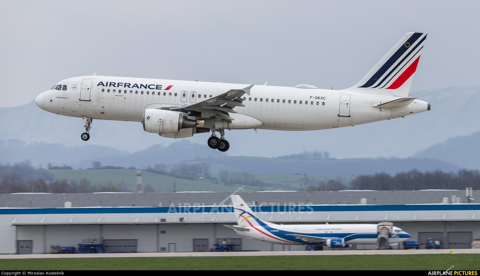 Air France F-GKXC aircraft at Ostrava Mošnov