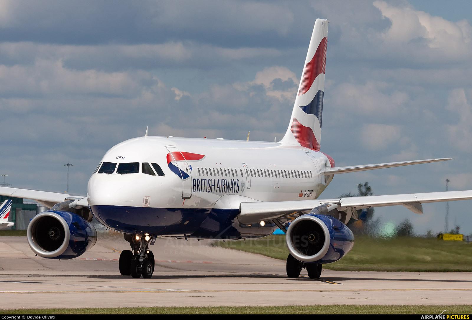 British Airways G-EUPS aircraft at Manchester