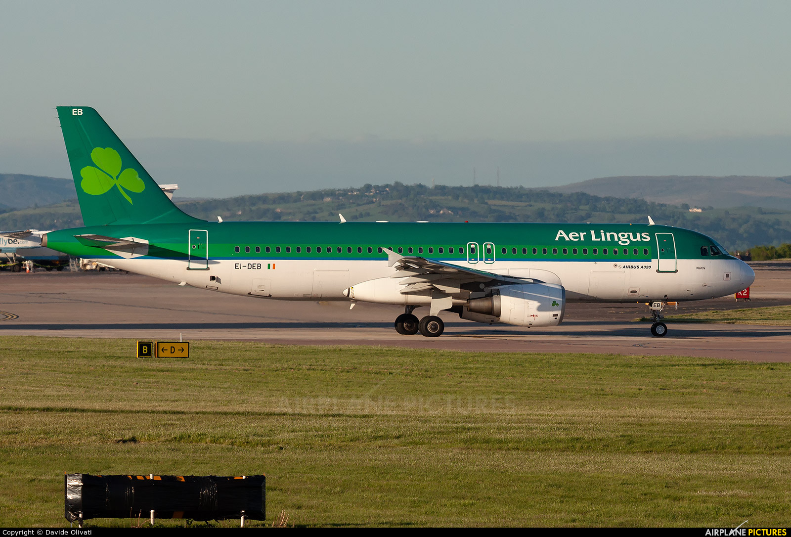 Aer Lingus EI-DEB aircraft at Manchester