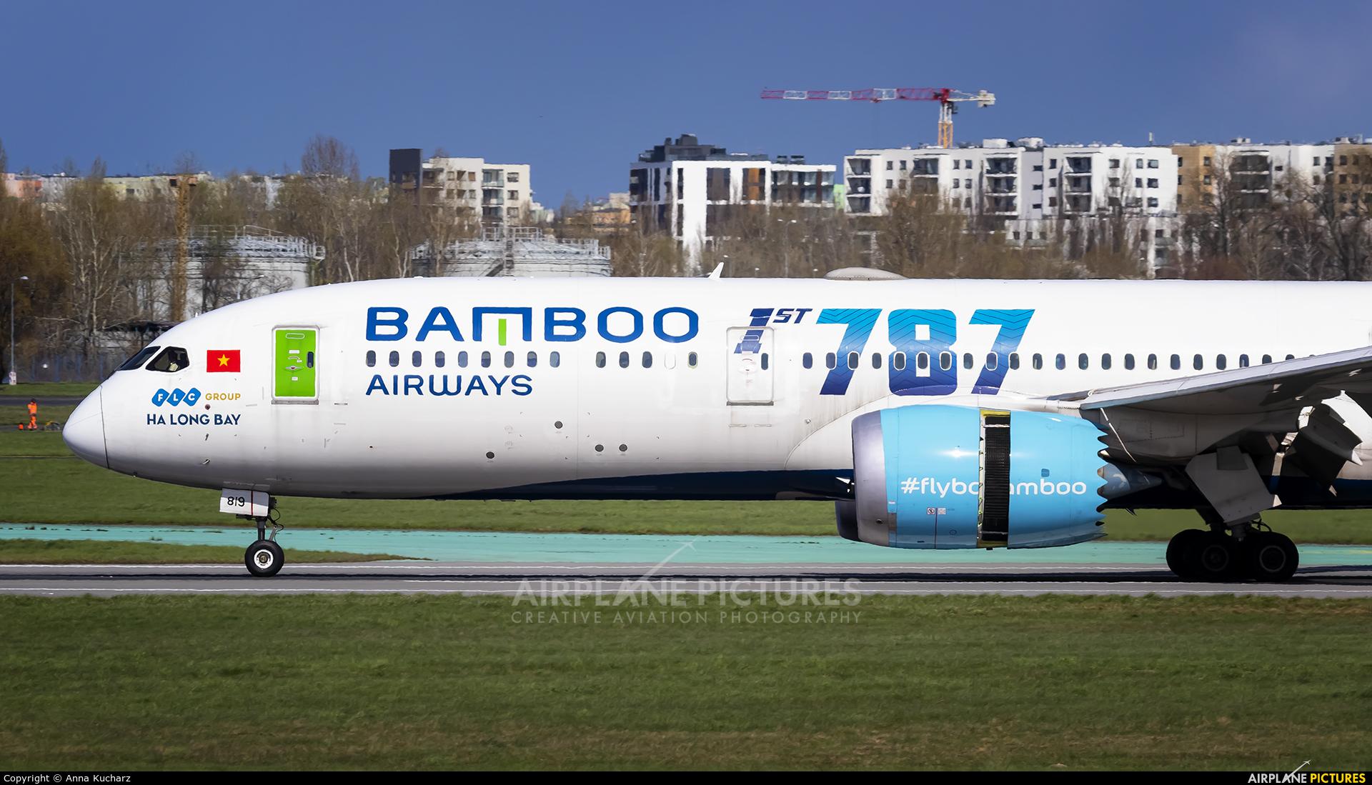 Bamboo Airways VN-A819 aircraft at Warsaw - Frederic Chopin