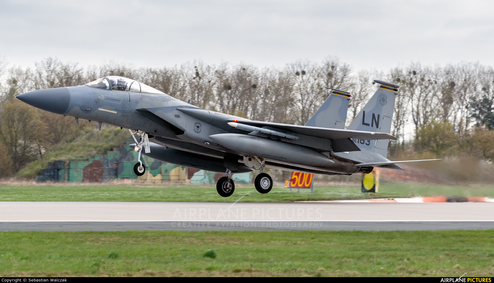 USA - Air Force 86-0163 aircraft at Poznań - Krzesiny