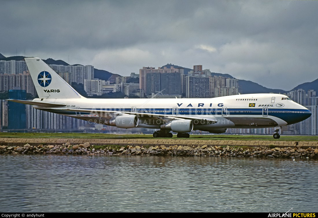 VARIG PP-VNB aircraft at HKG - Kai Tak Intl CLOSED