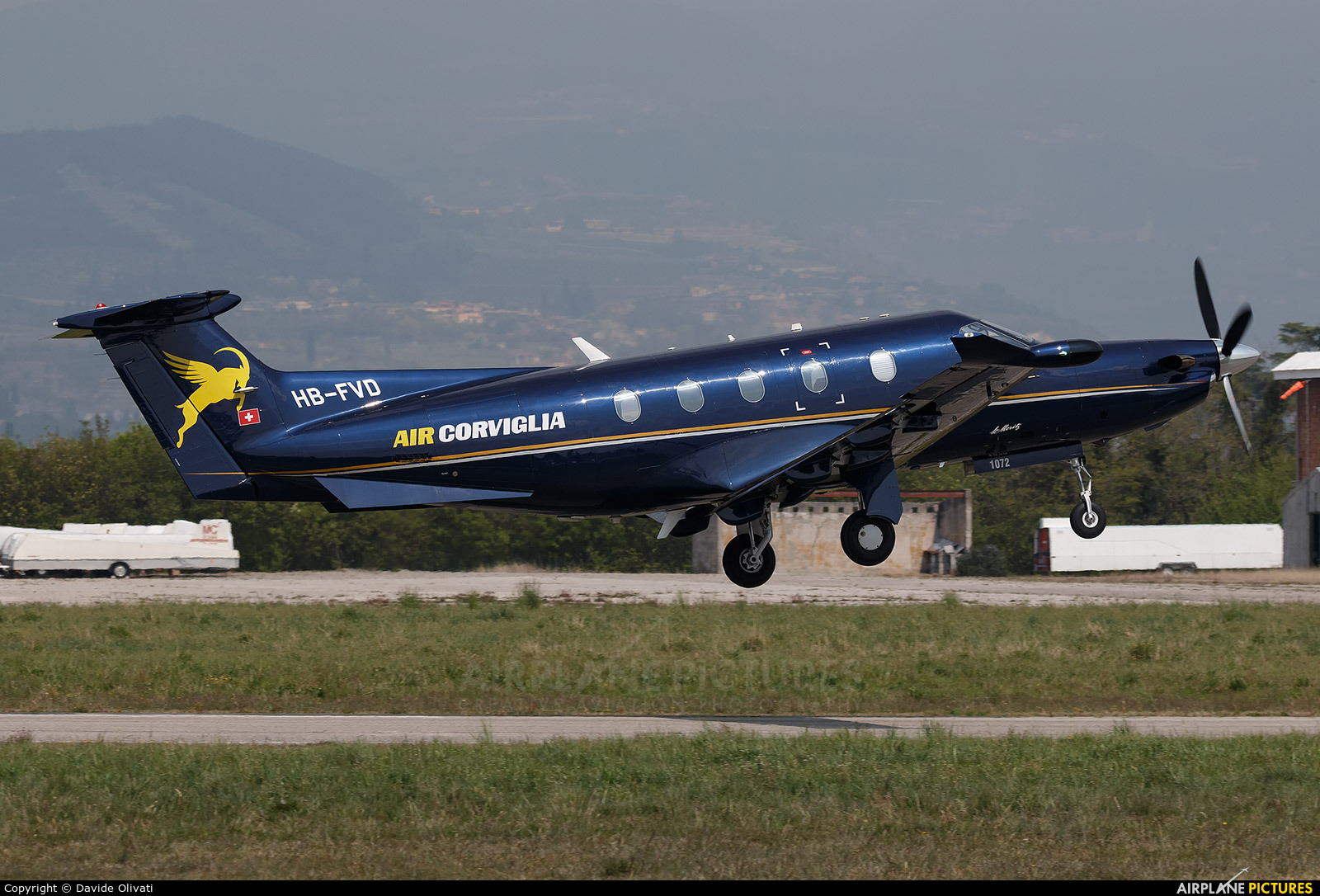 Air Corviglia HB-FVD aircraft at Verona - Boscomantico