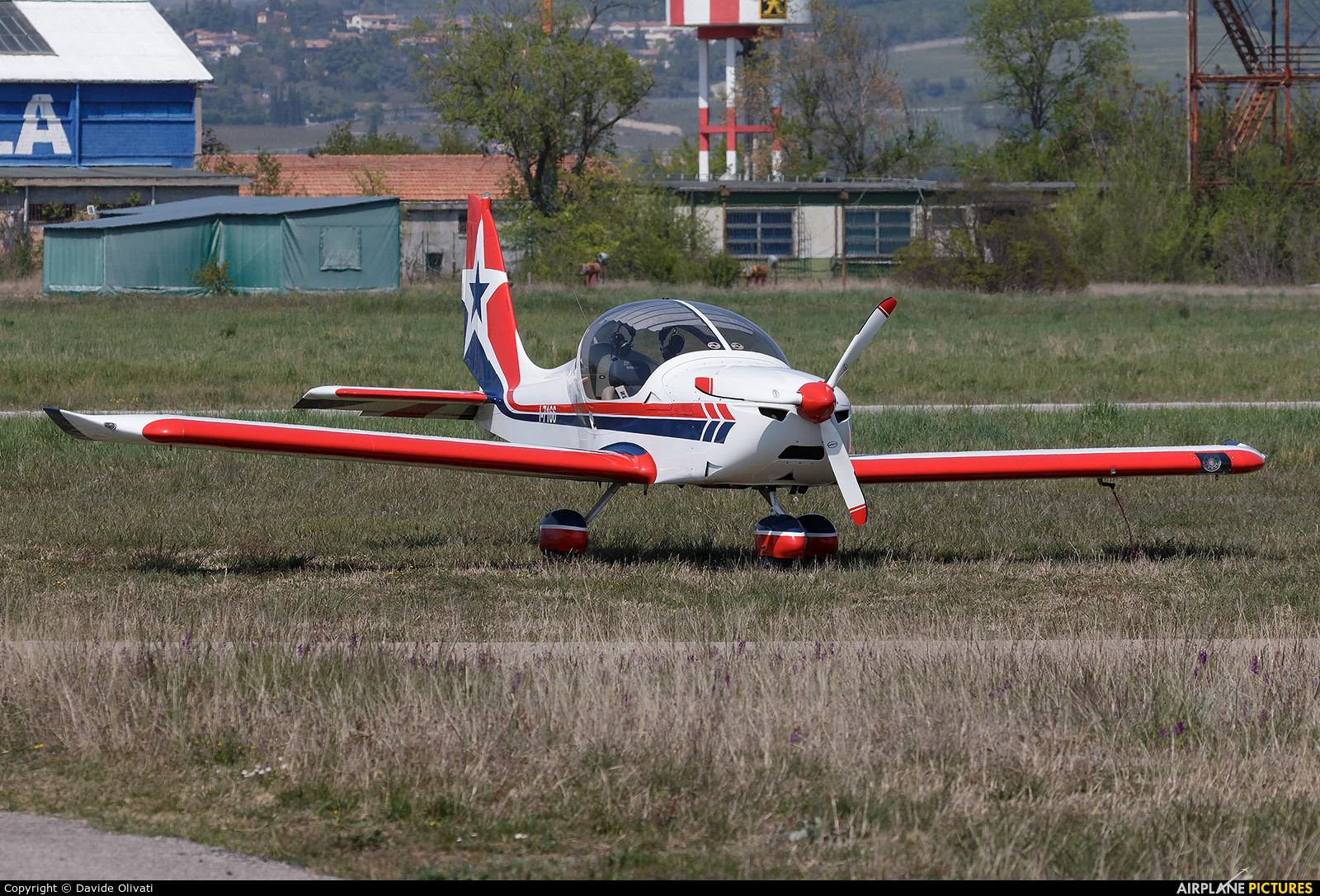 Private I-7166 aircraft at Verona - Boscomantico