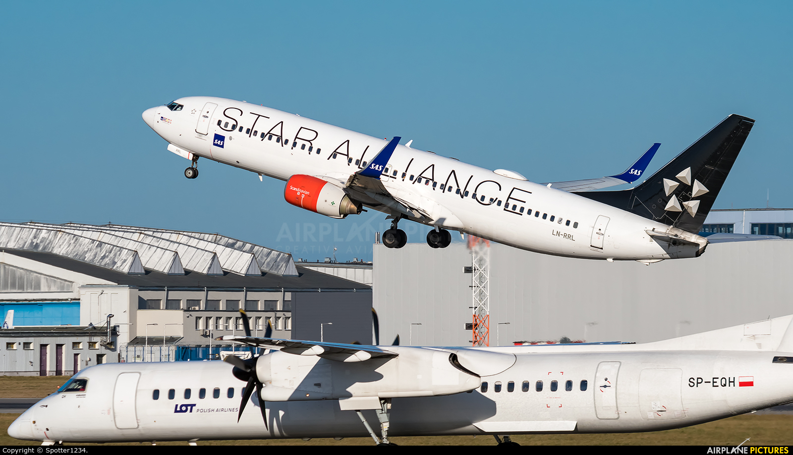SAS - Scandinavian Airlines LN-RRL aircraft at Warsaw - Frederic Chopin