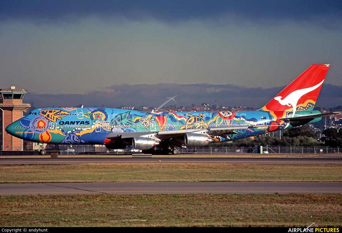 QANTAS VH-EBU aircraft at Sydney - Kingsford Smith Intl, NSW
