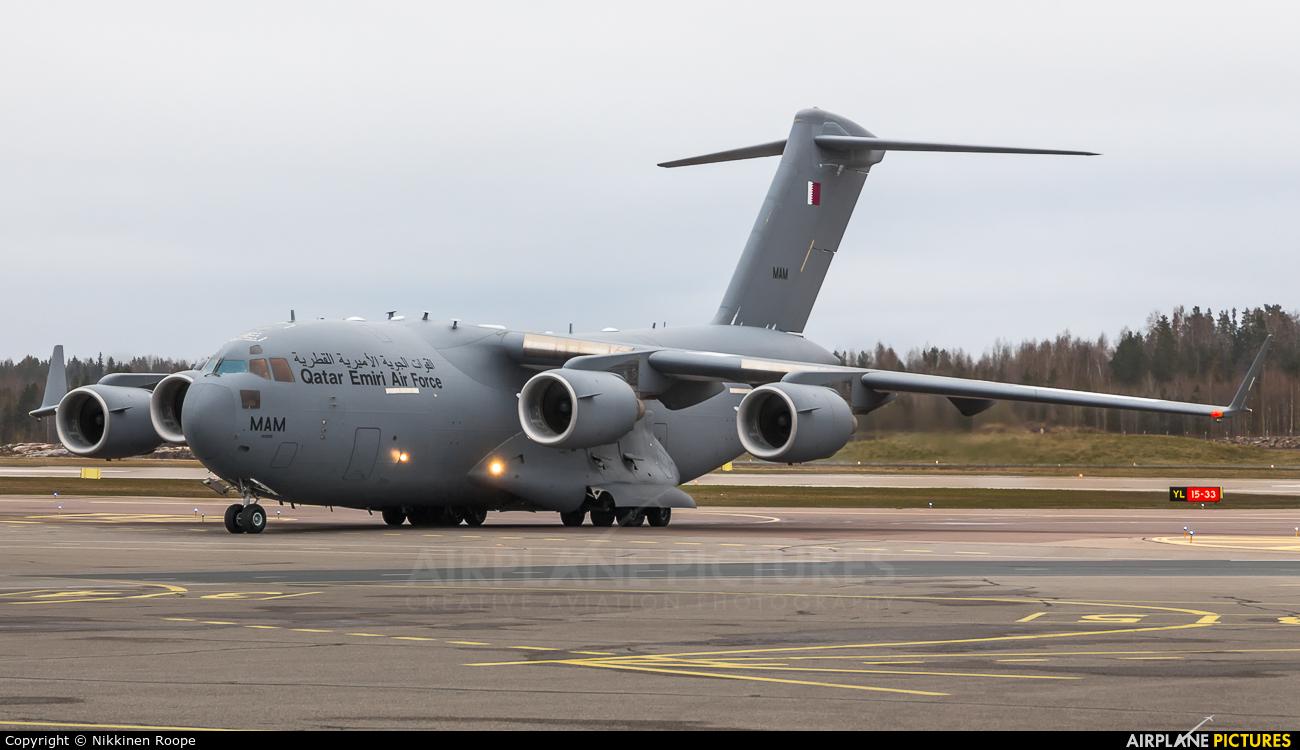 Qatar Amiri - Air Force A7-MAM aircraft at Helsinki - Vantaa
