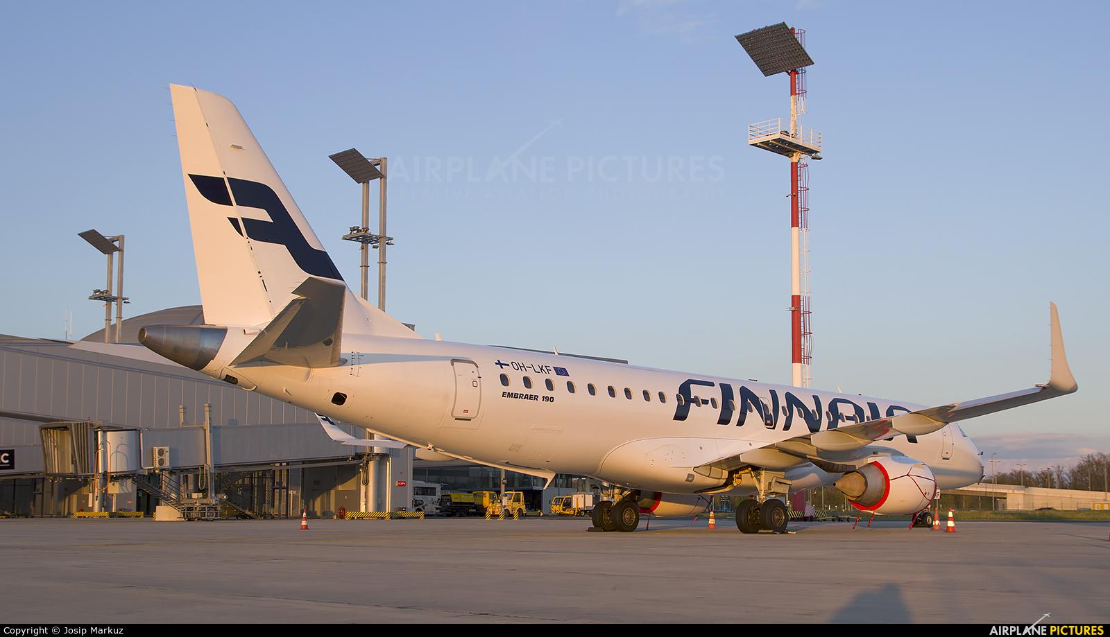 Finnair OH-LKF aircraft at Zagreb