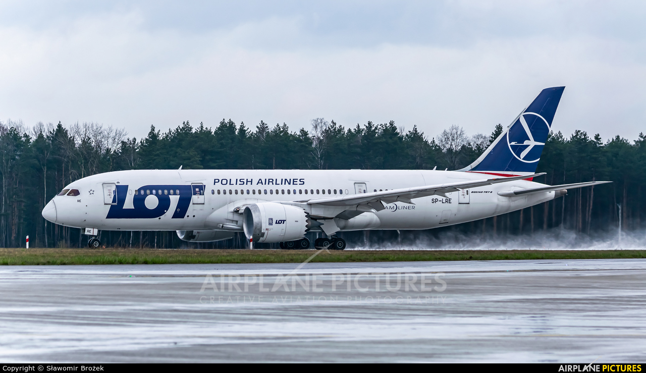 LOT - Polish Airlines SP-LRE aircraft at Katowice - Pyrzowice