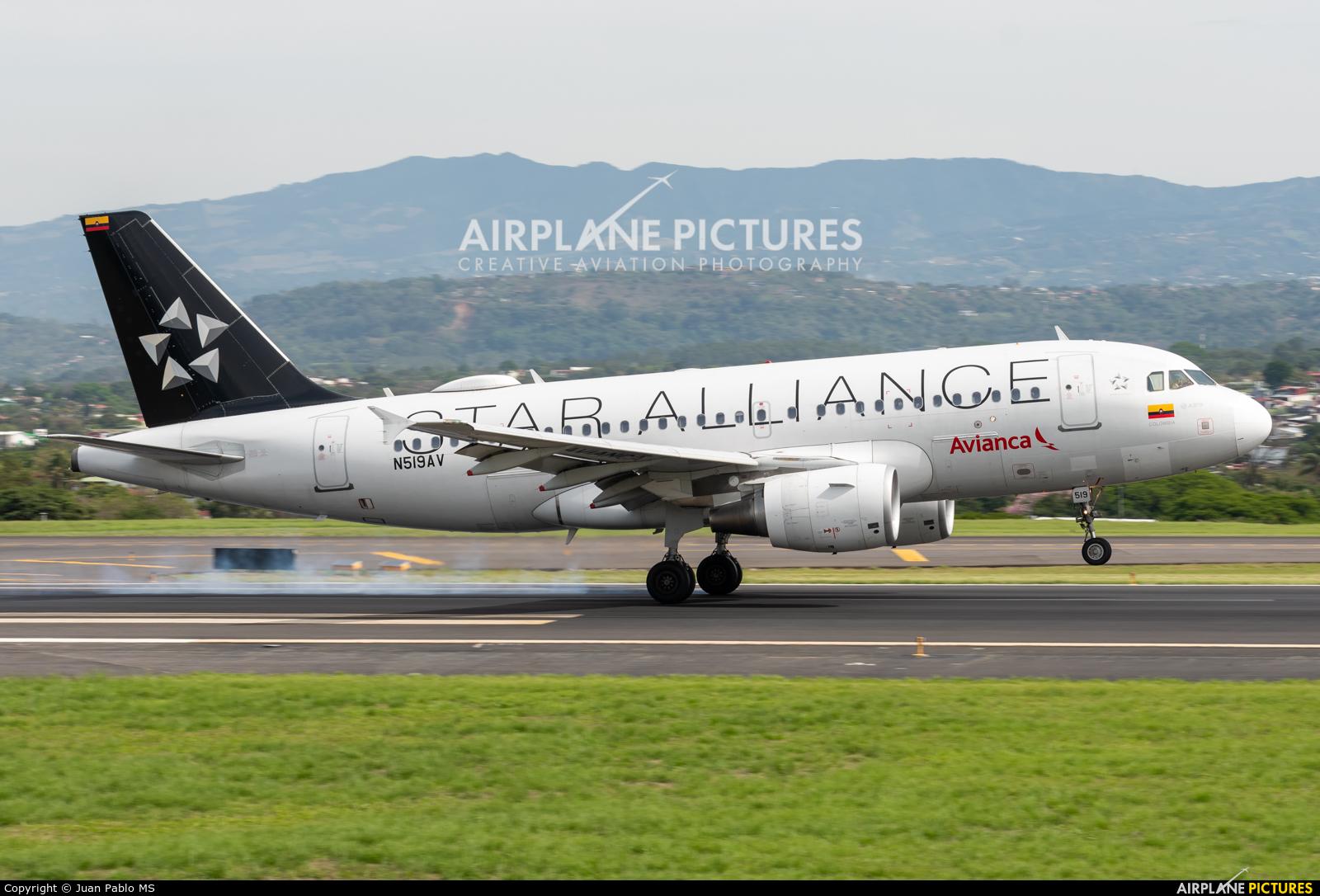 Avianca N519AV aircraft at San Jose - Juan Santamaría Intl