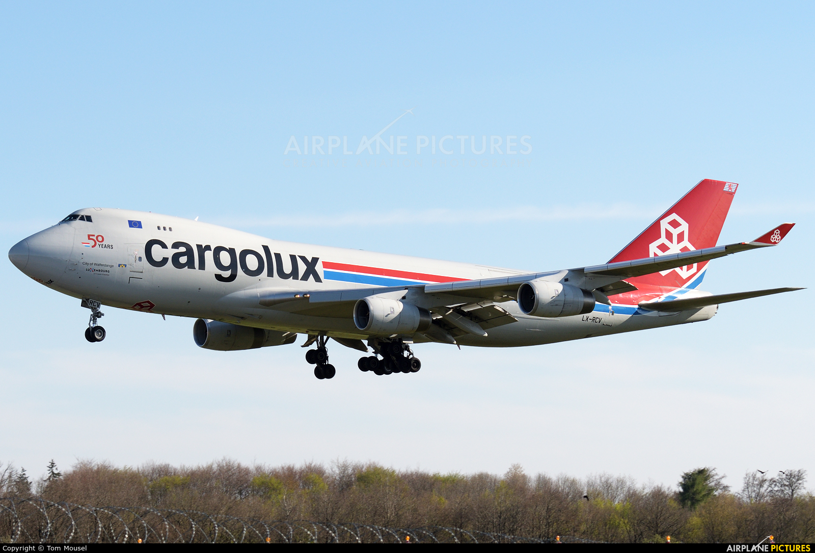 Cargolux LX-RCV aircraft at Luxembourg - Findel