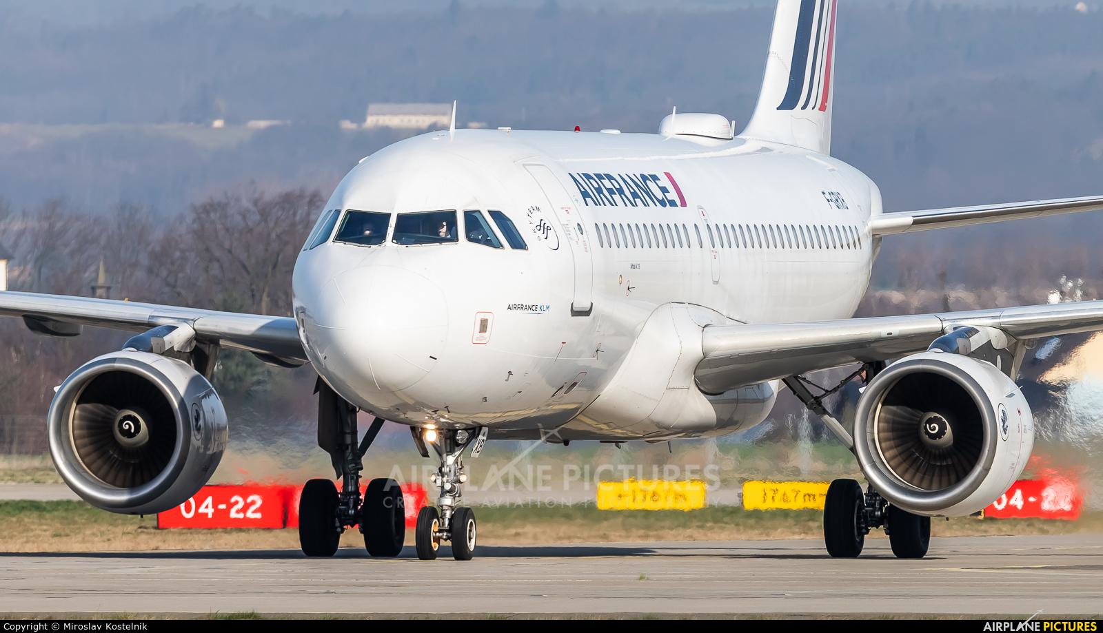 Air France F-GRXB aircraft at Ostrava Mošnov