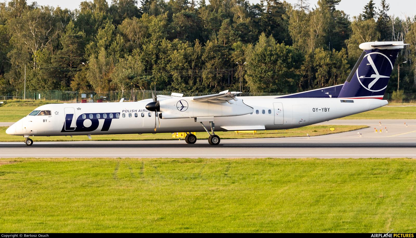 LOT - Polish Airlines OY-YBY aircraft at Gdańsk - Lech Wałęsa