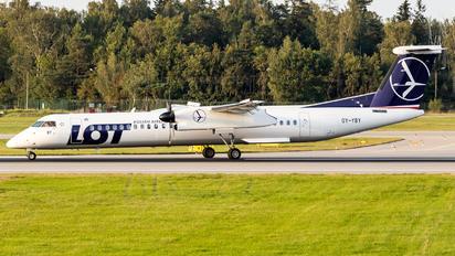 OY-YBY - LOT - Polish Airlines de Havilland Canada DHC-8-400Q / Bombardier Q400