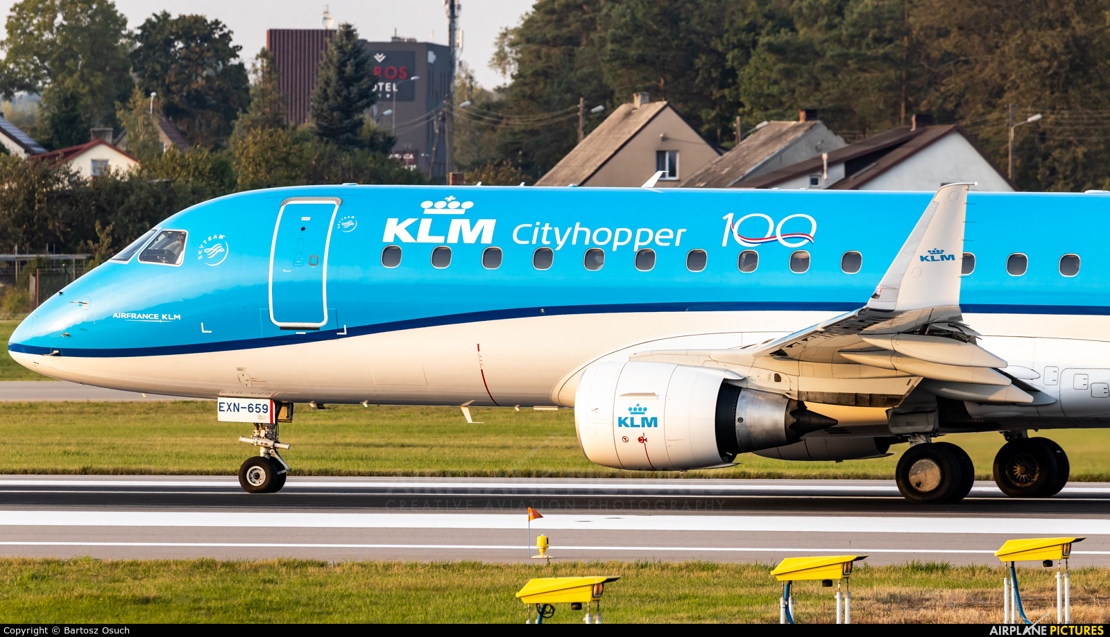 KLM Cityhopper PH-EXN aircraft at Gdańsk - Lech Wałęsa
