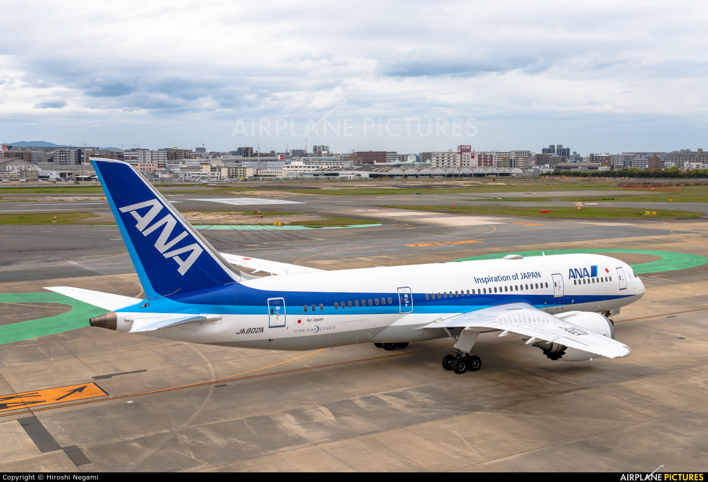 ANA - All Nippon Airways JA802A aircraft at Fukuoka
