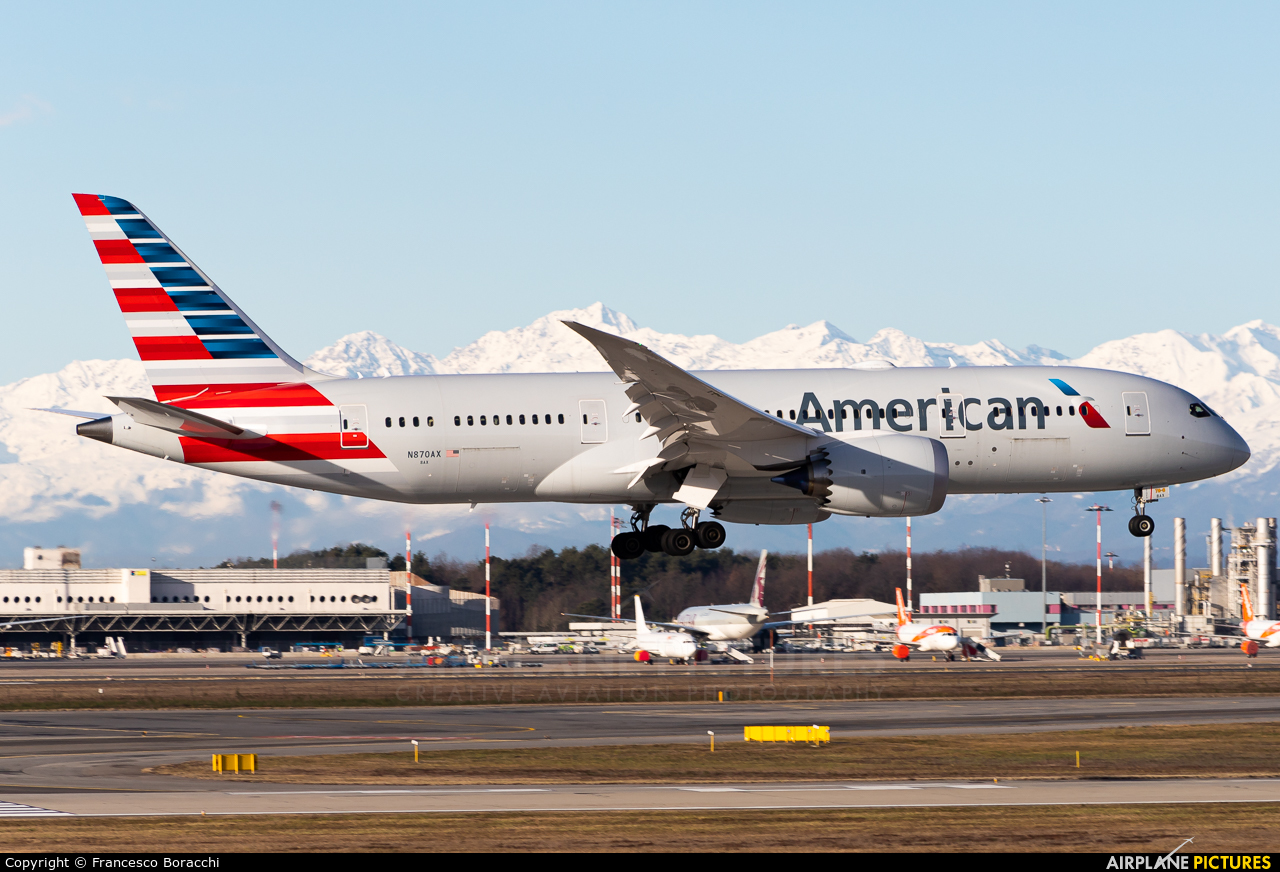 American Airlines N870AX aircraft at Milan - Malpensa