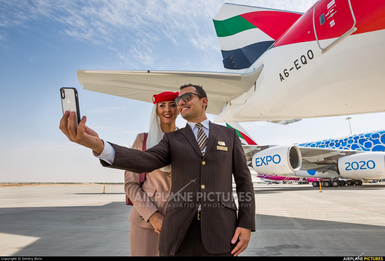 Emirates Airlines A6-EQO aircraft at Jebel Ali Al Maktoum Intl