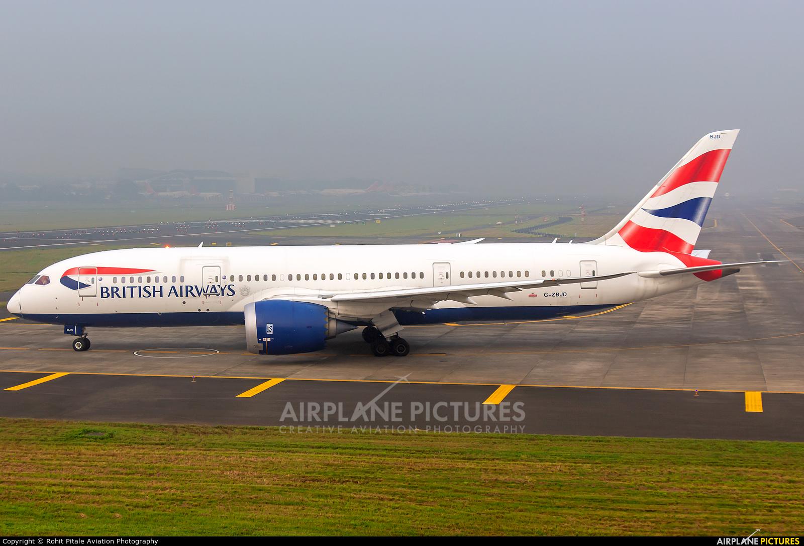 British Airways G-ZBJD aircraft at Mumbai - Chhatrapati Shivaji Intl