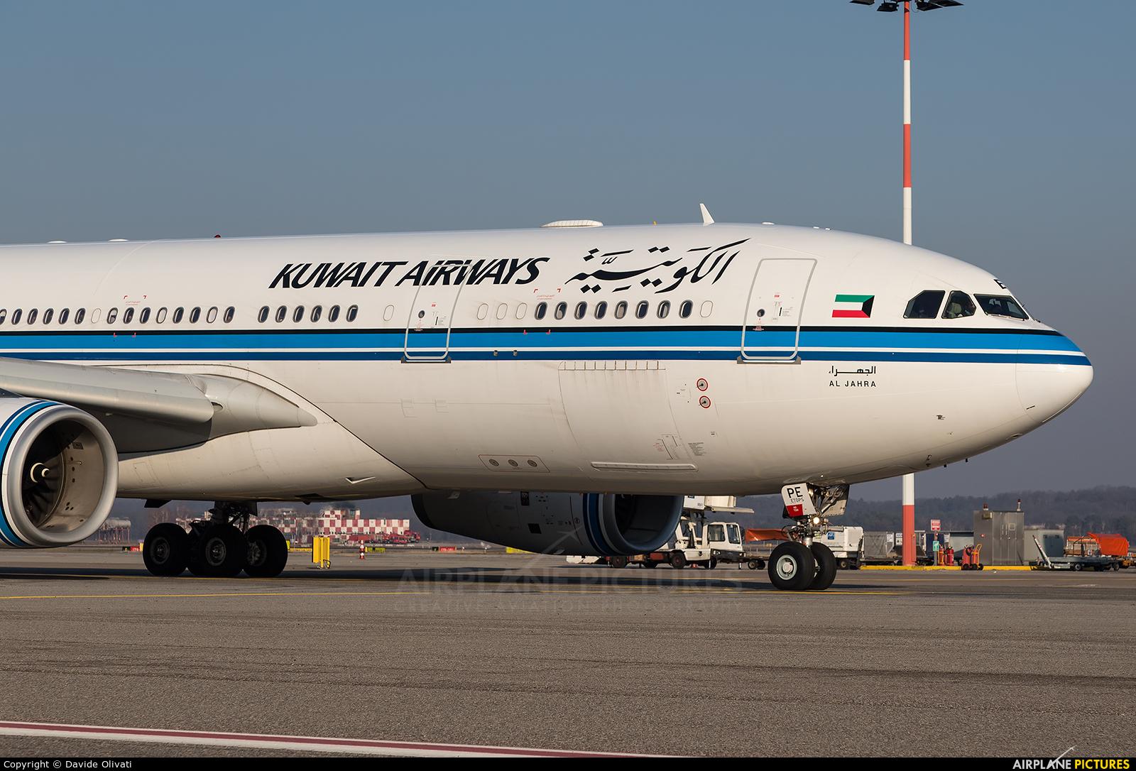 Kuwait Airways 9K-APE aircraft at Milan - Malpensa
