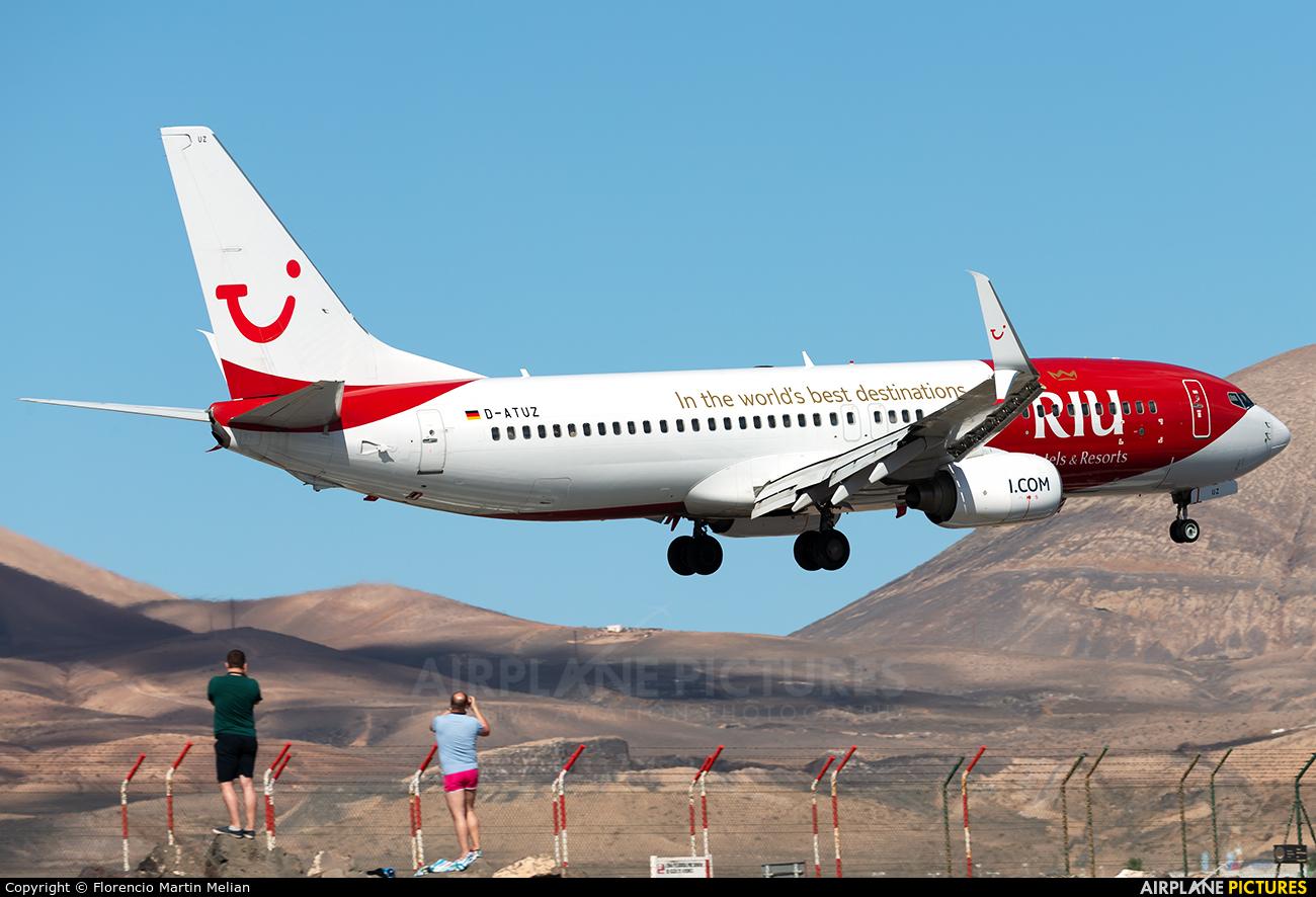 TUIfly D-ATUZ aircraft at Lanzarote - Arrecife