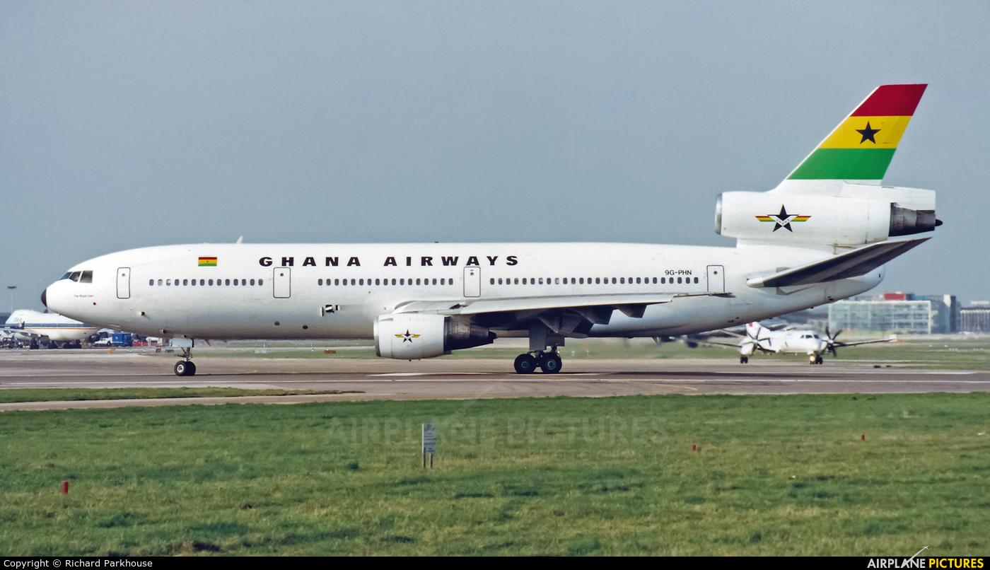 Ghana Airways 9G-PHN aircraft at London - Heathrow
