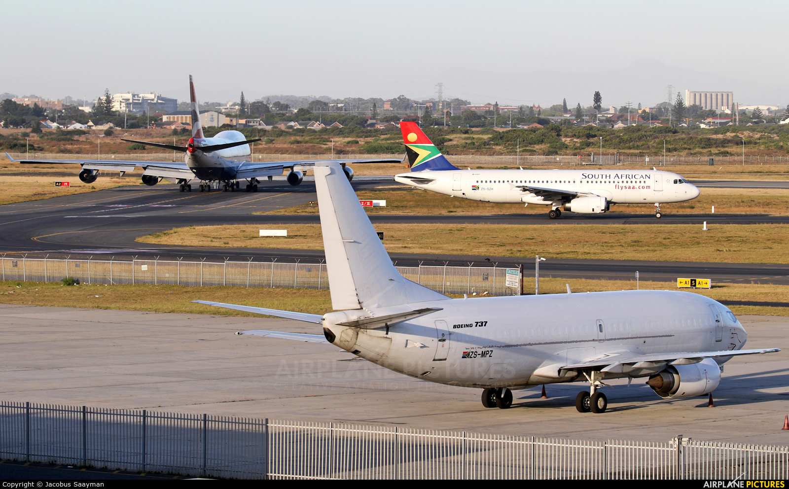 Africa Charter Airline ZS-MPZ aircraft at Cape Town Intl