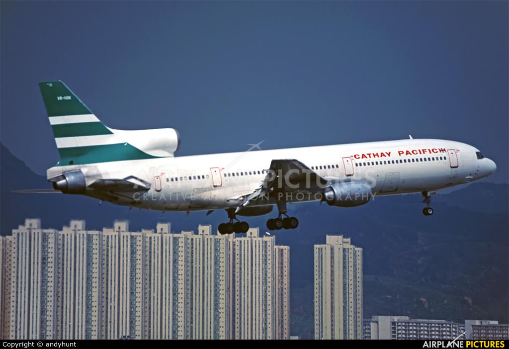 Cathay Pacific VR-HOK aircraft at HKG - Kai Tak Intl CLOSED