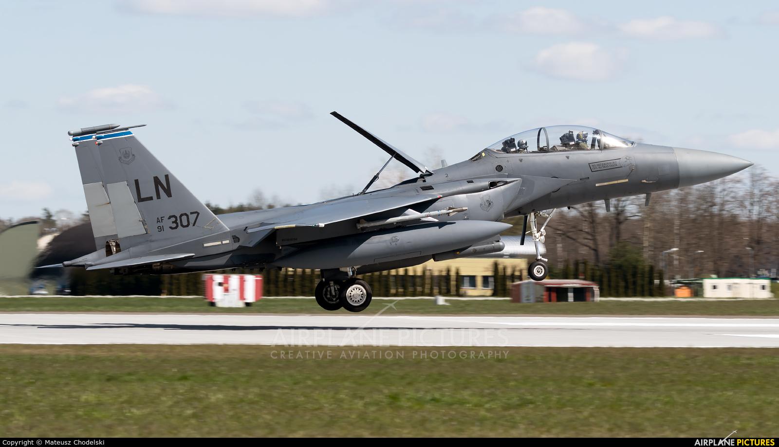 USA - Air Force 91-0307 aircraft at Łask AB