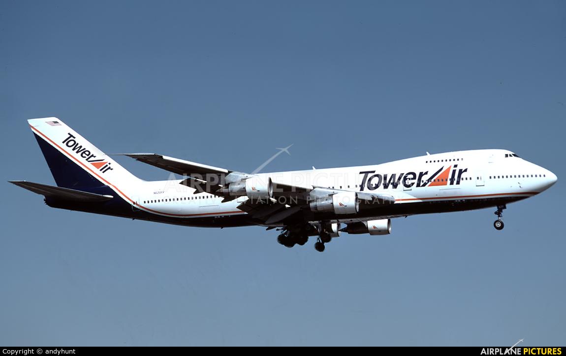 Tower Air N602FF aircraft at Los Angeles Intl