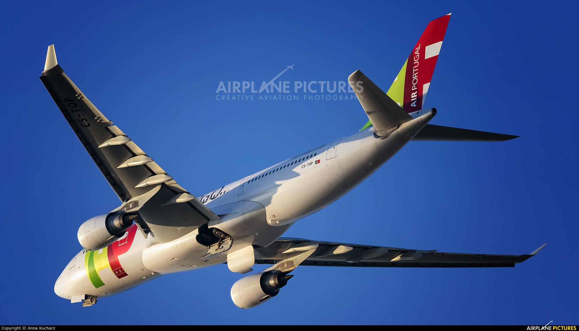 TAP Portugal CS-TOP aircraft at Warsaw - Frederic Chopin