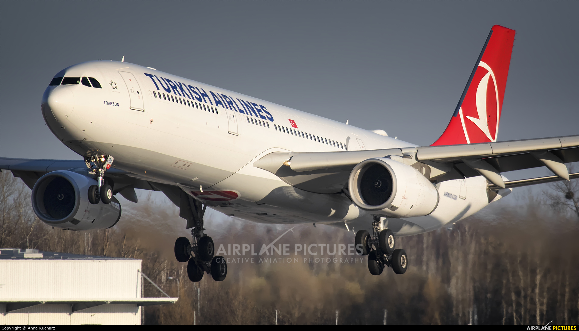Turkish Airlines TC-JNL aircraft at Warsaw - Frederic Chopin