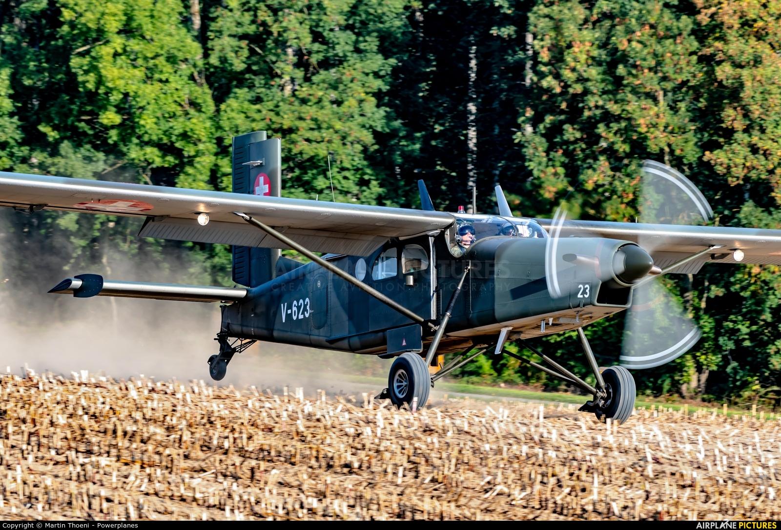 Switzerland - Air Force V-623 aircraft at Off Airport - Ebersecken