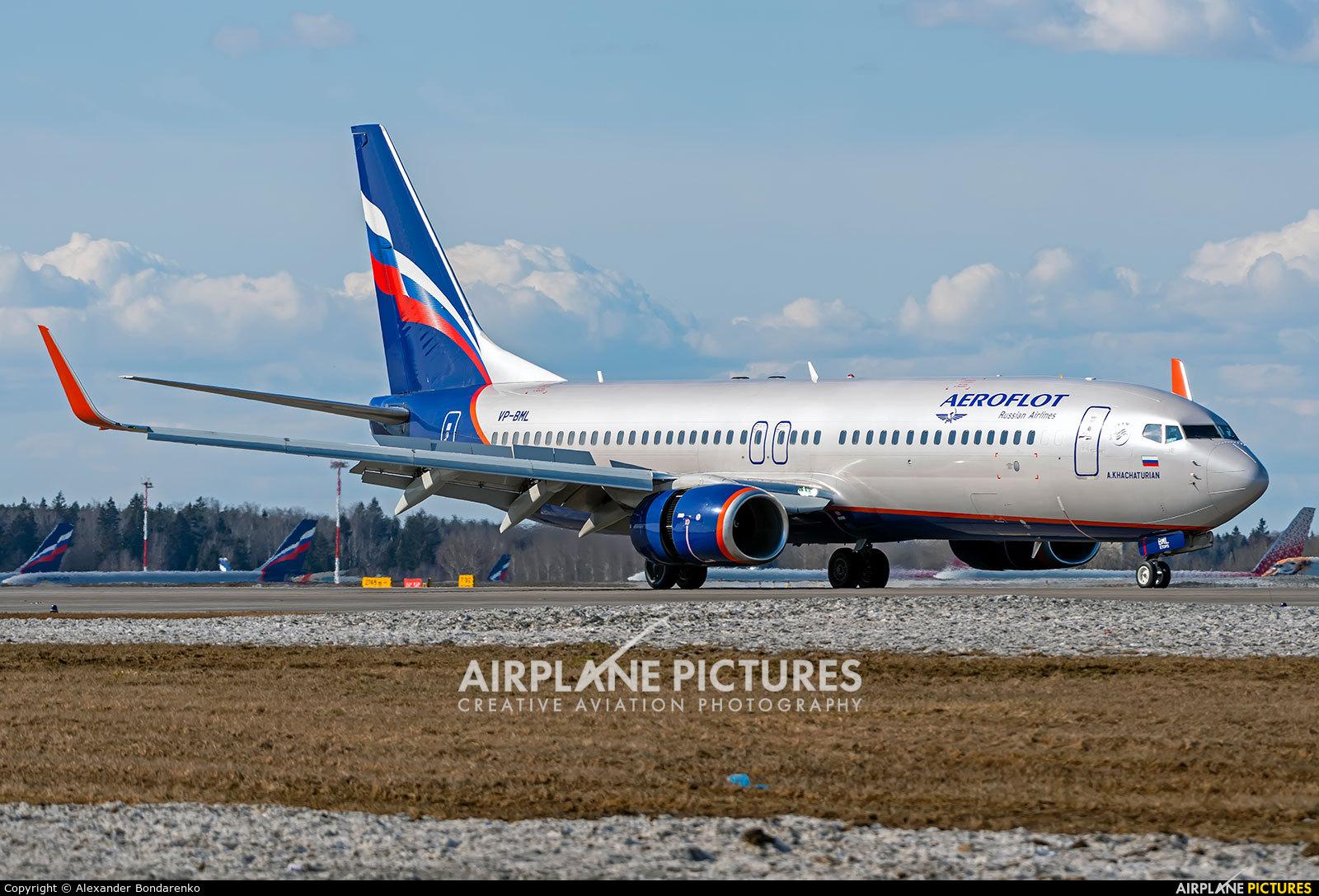 Aeroflot VP-BML aircraft at Moscow - Sheremetyevo
