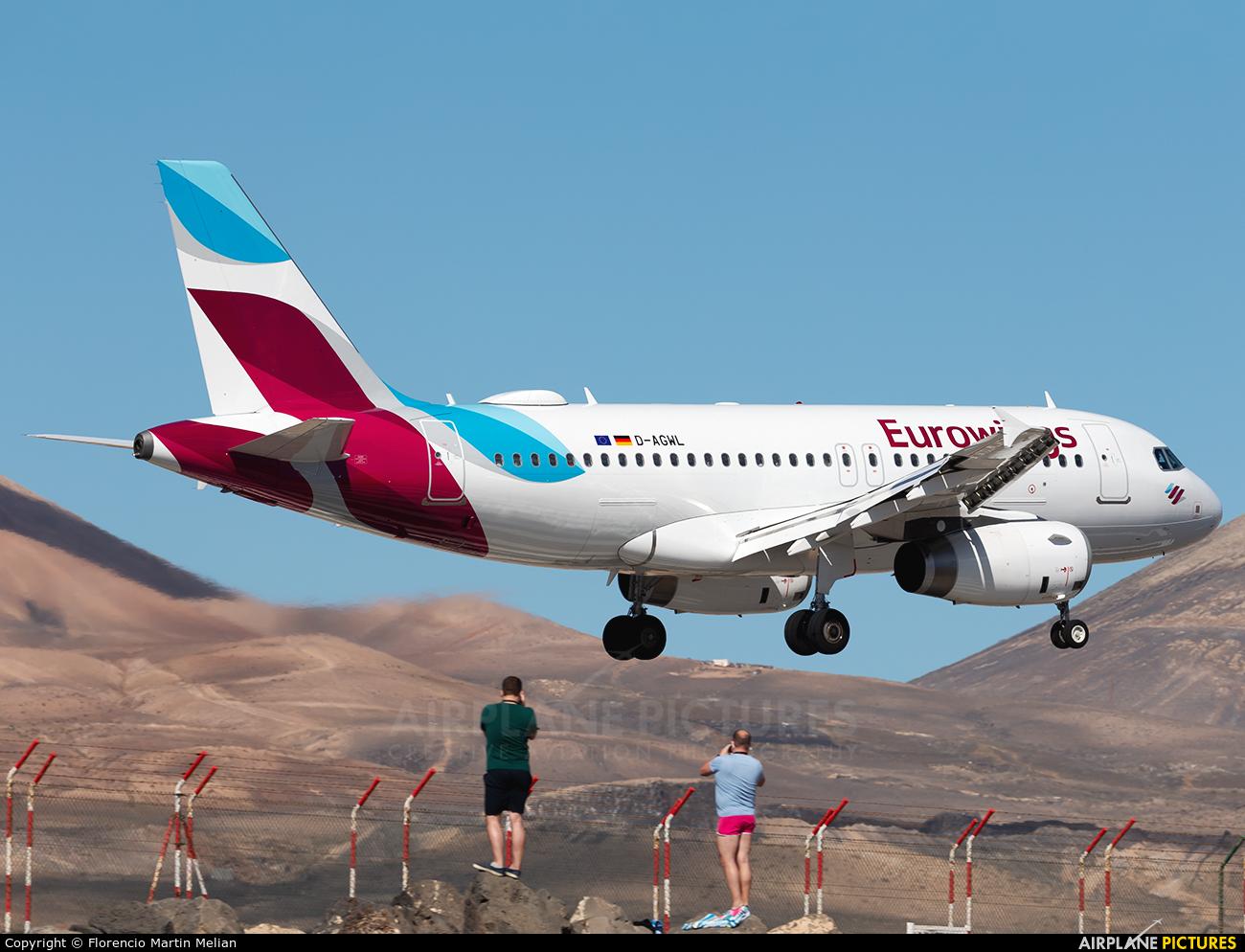 Germanwings D-AGWL aircraft at Lanzarote - Arrecife