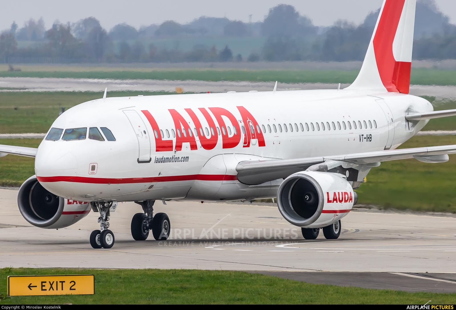 LaudaMotion VT-IHB aircraft at Ostrava Mošnov