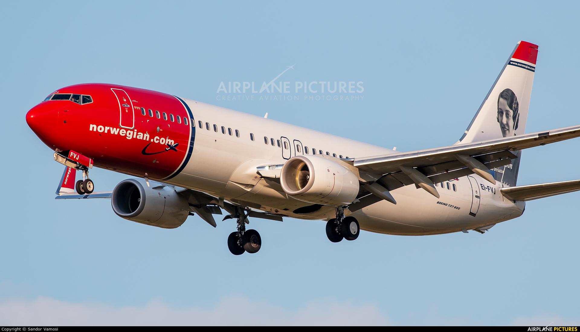 Norwegian Air Shuttle EI-FVJ aircraft at Budapest Ferenc Liszt International Airport