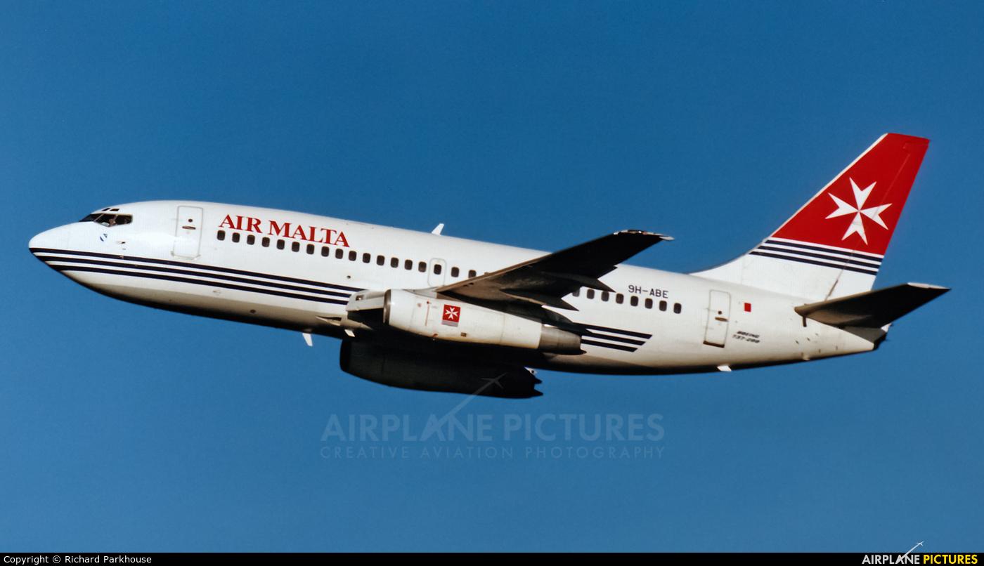 Air Malta 9H-ABE aircraft at London - Gatwick