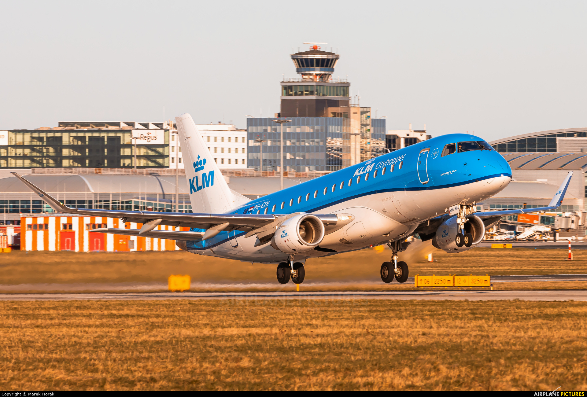 KLM Cityhopper PH-EXW aircraft at Prague - Václav Havel
