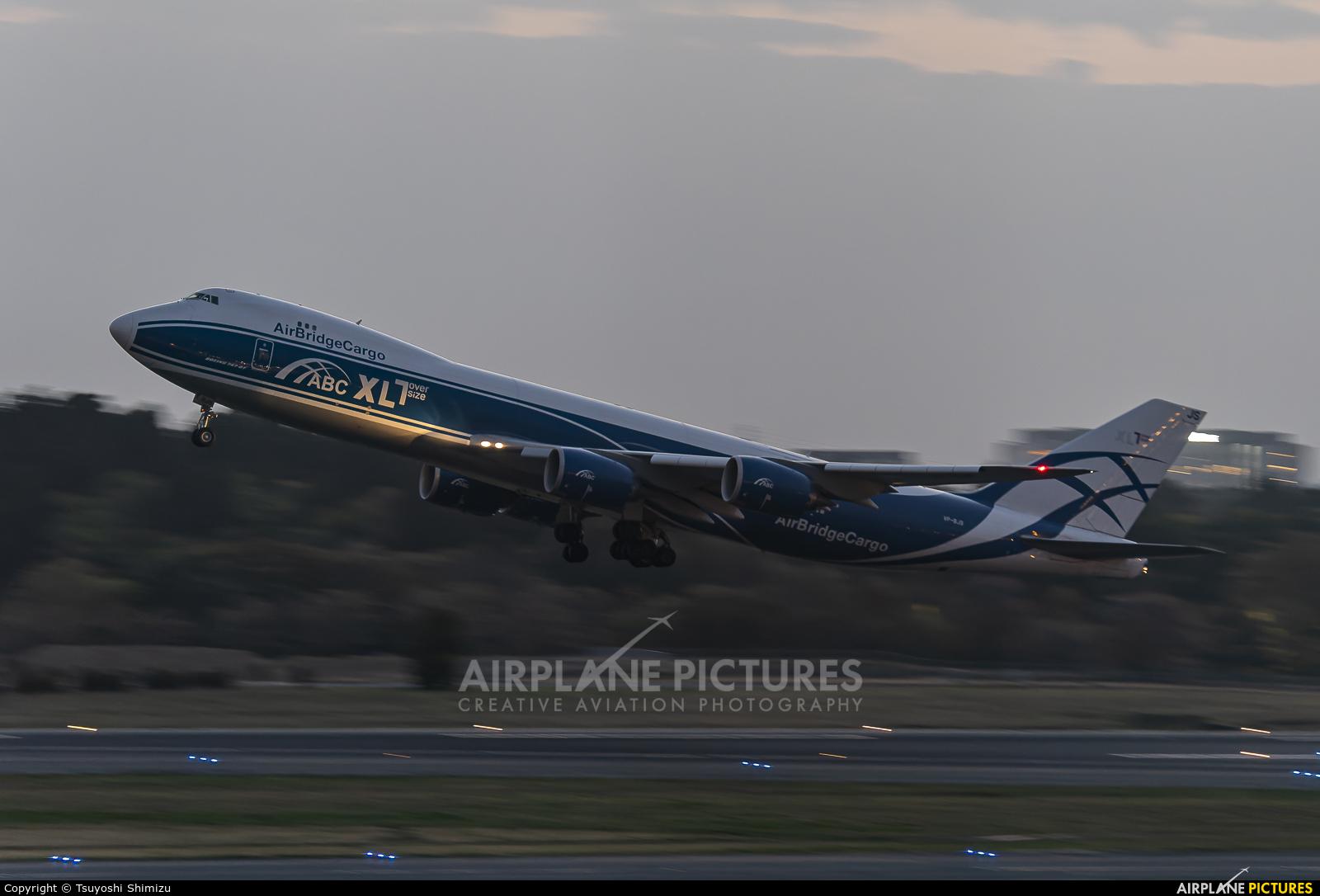 Air Bridge Cargo VP-BJS aircraft at Tokyo - Narita Intl