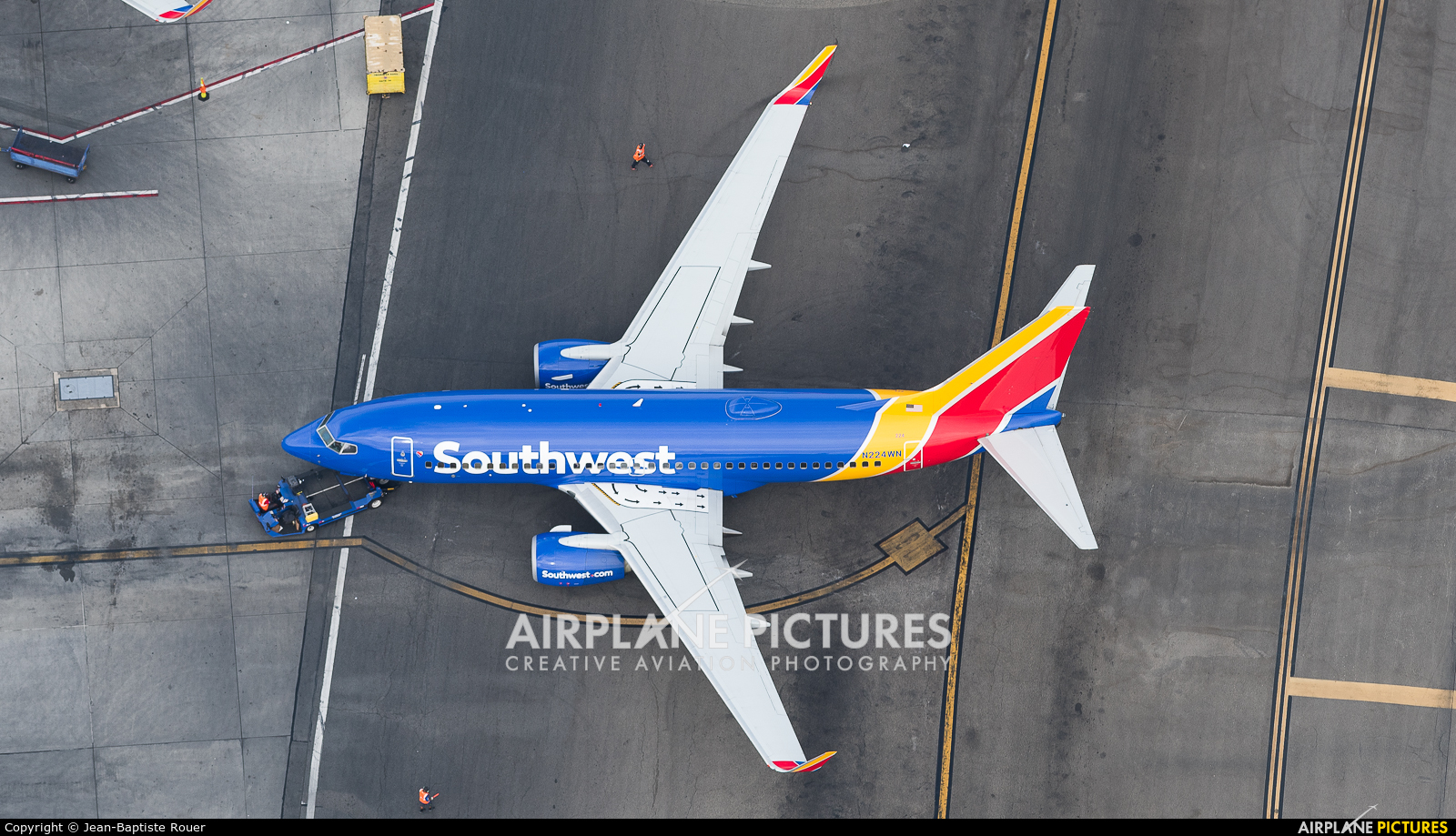 Southwest Airlines N224WN aircraft at Los Angeles Intl