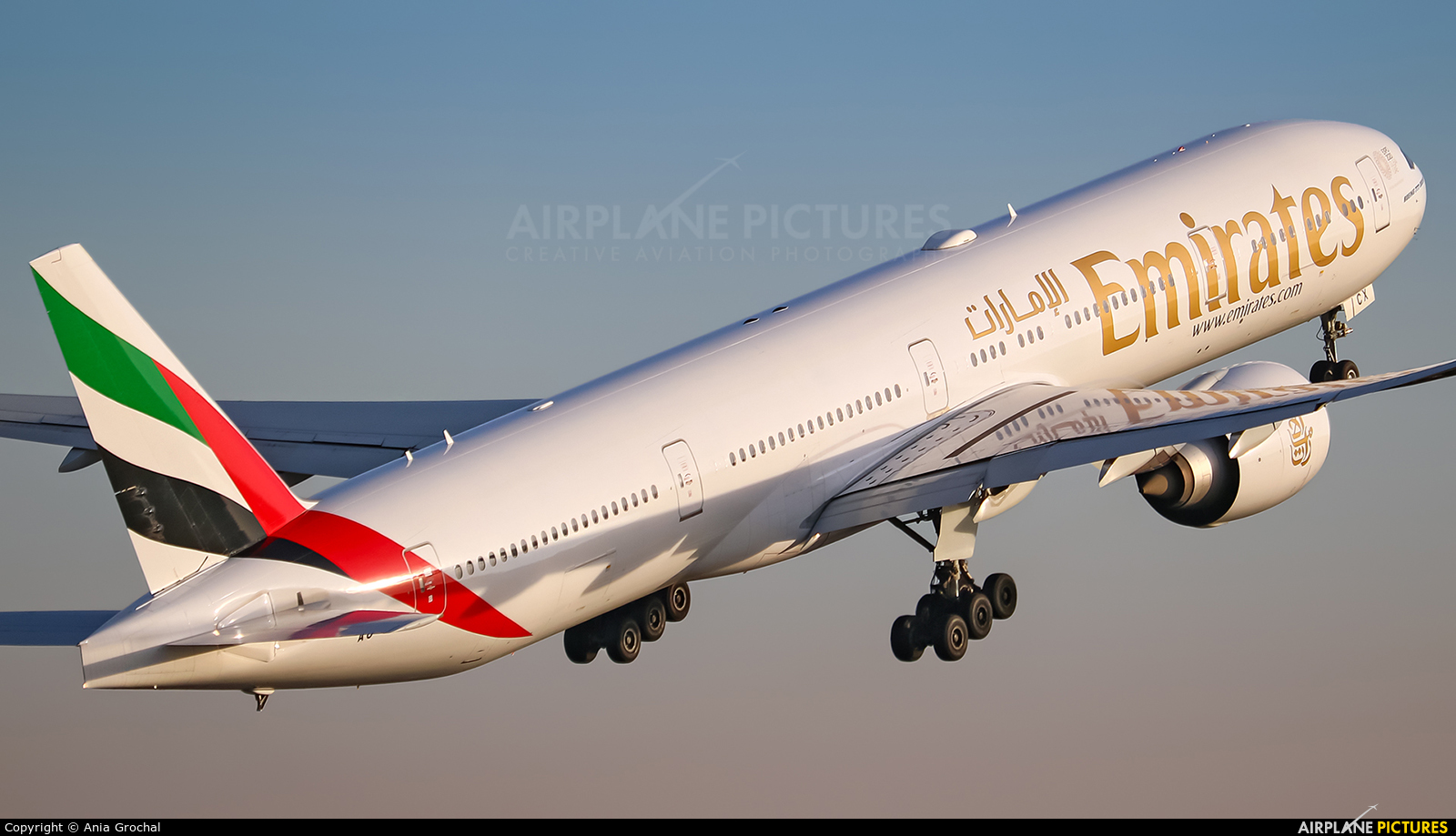 Emirates Airlines A6-ECX aircraft at Warsaw - Frederic Chopin