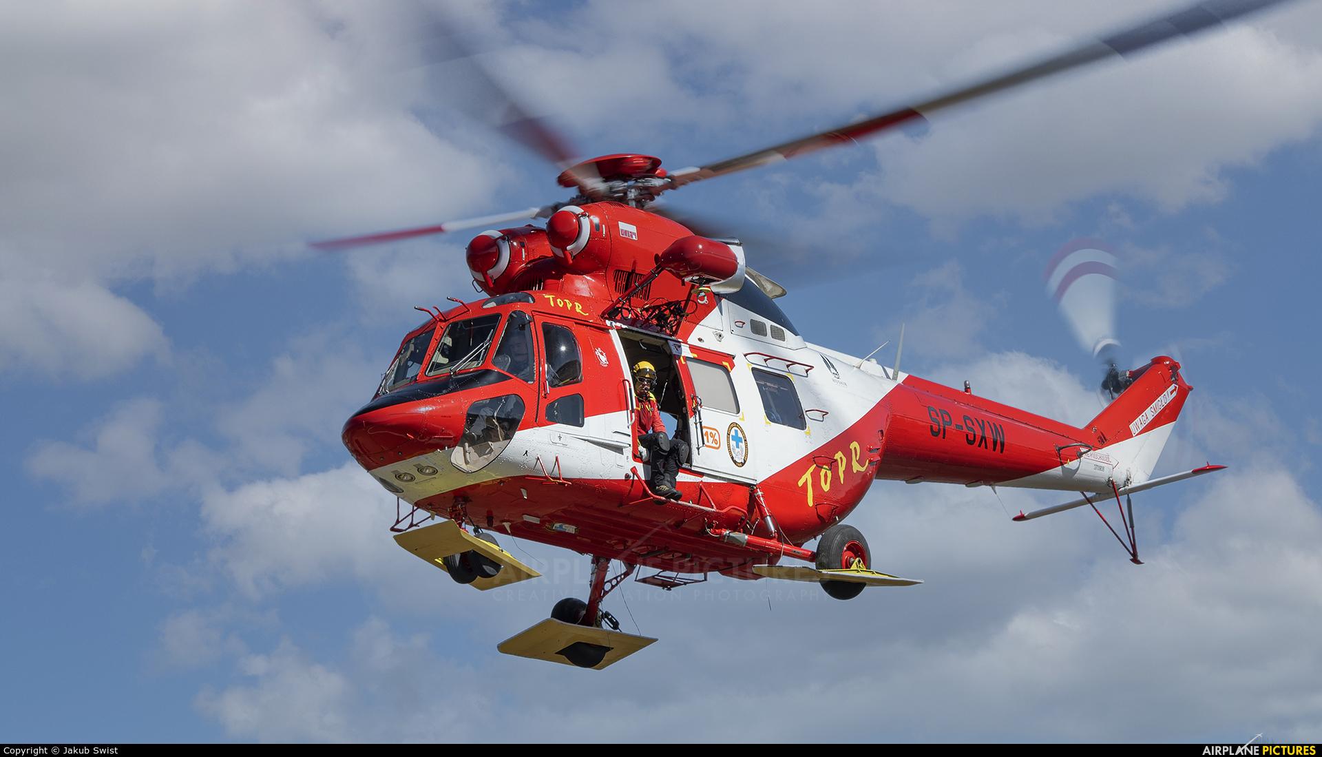 Tatra Mountains Rescue (TOPR) SP-SXW aircraft at Zakopane