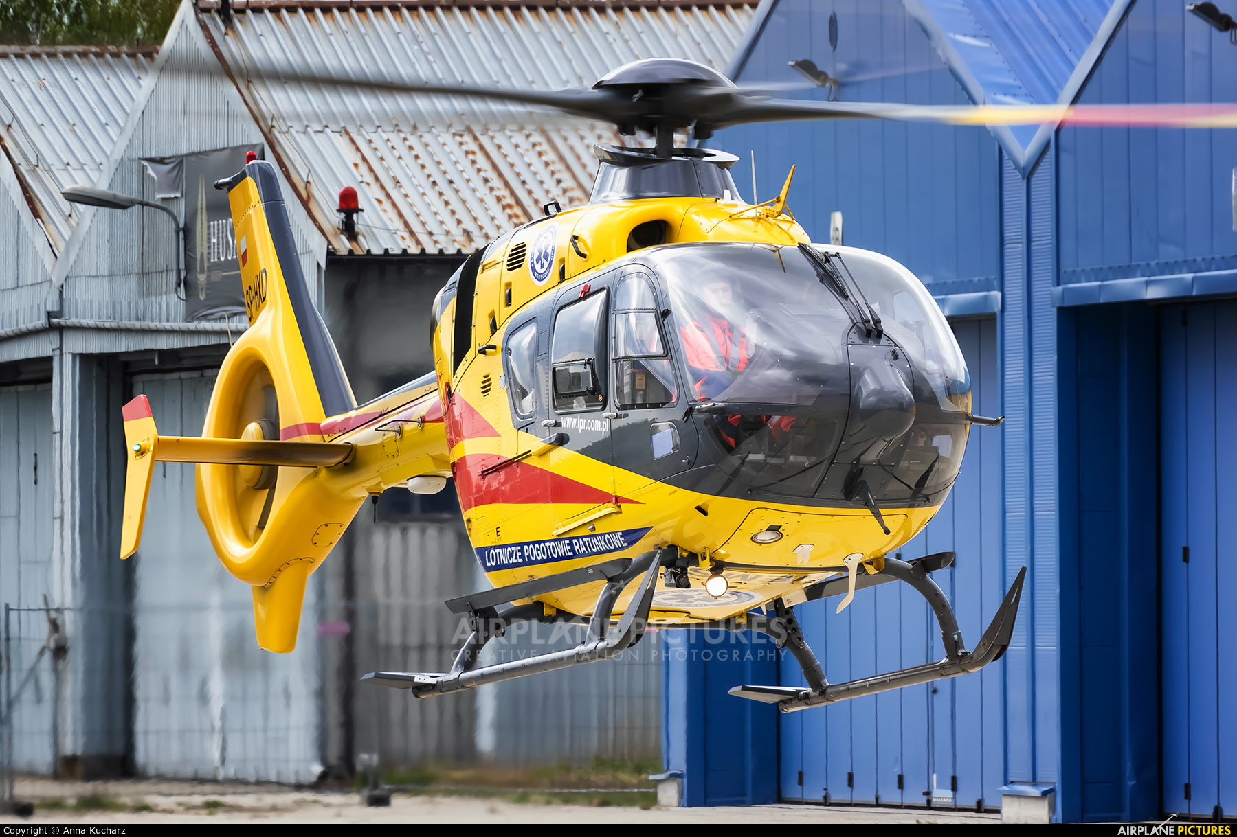 Polish Medical Air Rescue - Lotnicze Pogotowie Ratunkowe SP-HXD aircraft at Warsaw - Babice